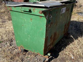 Green Metal Trash Dumpster
