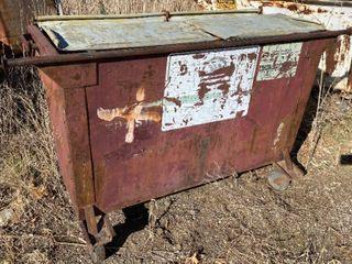 Brown Metal Trash Dumpster