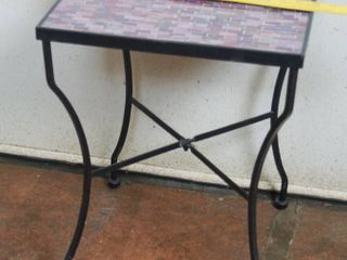 Very Cool Outdoor Indoor Table   Table Top is 15  x 15  and 20  Tall