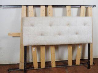 Full Bed Frame w  White Padded Head Board  56  Wide