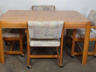 Very Nice Oak Kitchen Table w  4 Chairs  36  wide x 59  long x 30  Tall
