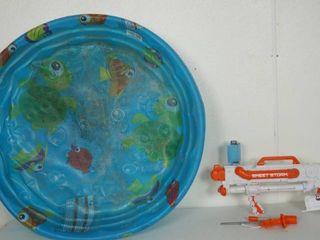 Plastic Pool and Water Gun