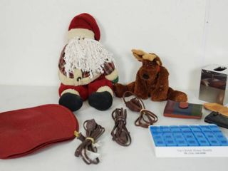 lot of Christmas Items  Kleenex Holder  lot of Extension Cords