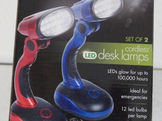 lED Cordless Set of 2  Desk lamps  In Original Box   Ideaworks