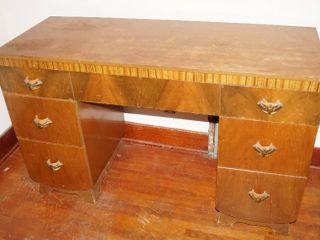 Vintage Desk   Matching Furniture on lot 12824   approx  48  long and 19  Deep