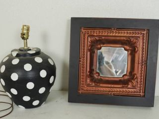 Cool looking Table lamp and Wall Decor