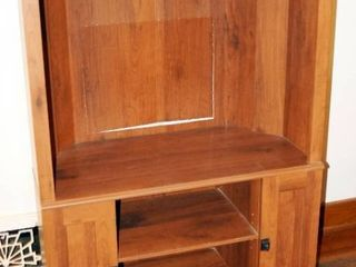 TV Armoire  approx  57  tall x 35 1 2 wide  x 18 deep