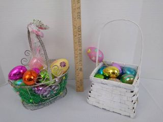 2  Easter baskets with Easter eggs