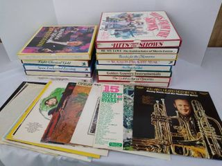 large lot of records including Camelot  Gordon McRae  beethoven Tchaikovsky and more