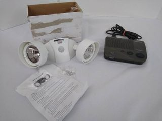 RadioShack weather radio alert and night eyes security lights