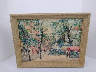 Vintage hanging wall art   14 1 2 H X 18 W