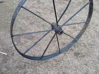 Metal farm equipment wheel