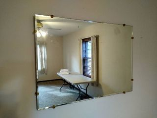 No frame wall mirror 24  H X 34  W
