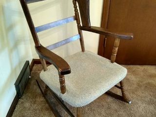 Vintage wing back rocking chair