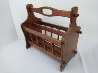 Wooden magazine rack 15 1 2 H X 9 W X 17 D