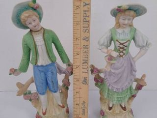 2 Handpainted Andrea poreclain figurines
