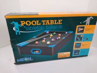 Tabletop billards pool table