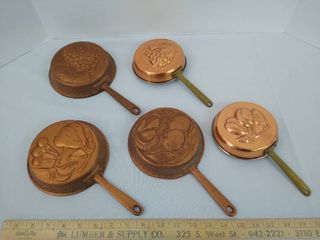 5 mini wall skillets