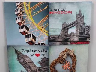 United Kingdom themed hanging wall art   24  X 24