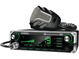 Uniden BEARCAT 880 CB Radio with 40 Channels and large Easy to Read 7 Color lCD Display with Backlighting  Backlit Control Knobs Buttons  NOAA Weather Alert  PA CB Switch  and Wireless Mic Compatible