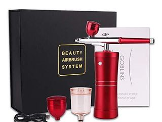Spray Airbrush Set Facial Makeup Airbrush Oxygen Kit Rechargeable Spray Pen with Adjustable Button for Cake Deraction Coloring Model Face SPA Tattoo  2 Kind of Capacity Cups  Chritmas Gift cenoz