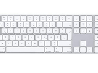 Apple Magic  mq052ll a  Wireless Keyboard With Numeric Pad Silver