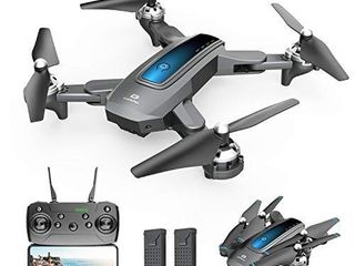 DEERC D10 Foldable Drone with Camera for Adults 720P HD FPV live Video  Tap Flying  Gesture Selfie  Altitude Hold  Headless Mode  3D Flips  Quadcopter for Kids Beginners with 2 Batteries 24 mins