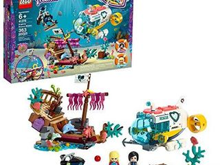 lEGO Friends Dolphins Rescue Mission 41378 Building Kit with Toy Submarine and Sea Creatures  Fun Sea life Playset with Kacey and Stephanie Minifigures for Group Play  363 Pieces