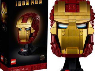 lEGO Marvel Avengers Iron Man Helmet Displayable Iron Man Mask for Marvel Fans 76165