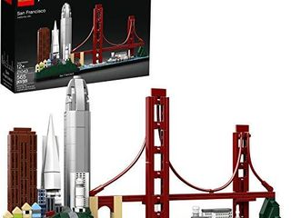 lEGO Architecture Skyline Collection 21043 San Francisco Building Kit Includes Alcatraz Model  Golden Gate Bridge and Other San Francisco Architectural landmarks  565 Pieces