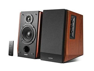 Edifier R1700BT Bluetooth Bookshelf Speakers   Active Near Field Studio Monitors   Powered Speakers 2 0 Setup Wooden Enclosure   66w RMS