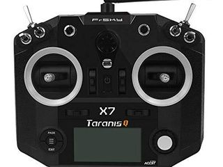 FrSky 2 4G Accst Taranis Q X7 16 Channels Transmitter Remote Controller Black Battery and Battery Trays Not Include