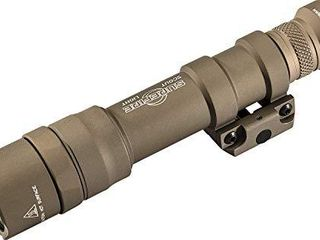 SureFire M600DF Dual Fuel Scout lED WMl Mounted light with Z68 Switch   Thumbscrew Mount 1500 lumens  Tan  Model Number  M600DF TN