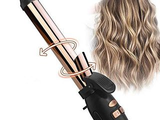 TYMO Wavy Rotating Curling Iron   1  Titanium Auto Curling Iron with Anti Stuck Design  Professional Hair Curling Iron with 7 Adjustable Temps  Anti Scald   Universal Voltage  Ideal for Beach Wave