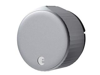 August Wi Fi   4th Generation  Smart lock Fits Your Existing Deadbolt in Minutes  Silver