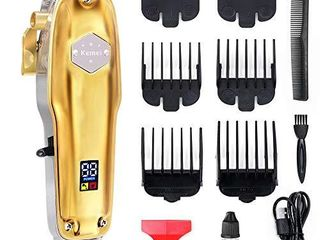 Barber Hair Clippers for Men   Professional Hair Trimmer Cordless Rechargeable 2200mAh Men Hair Beard Cutting Kit with 7 Grooming Combs  Oil and USB Cable