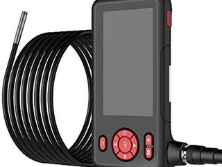Industrial Endoscope Borescope Inspection Snake Camera Waterproof with 4 3 inch lCD Screen 1080P HD Digital Cameras  9 84 Feet Semi Rigid Cord with lED lights  32GB TF Card  Side Mirror  Hook