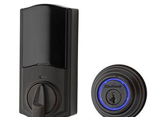 Kwikset   Kevo 99250 203 Kevo 2nd Gen Bluetooth Touch to Open Deadbolt Smart lock featuring SmartKey Security  Venetian Bronze