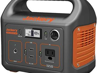 Jackery Portable Power Station Explorer 240  240Wh Backup lithium Battery  110V 200W Pure Sine Wave AC Outlet  Solar Generator  Solar Panel Not Included  for Outdoors Camping Travel Hunting Emergency