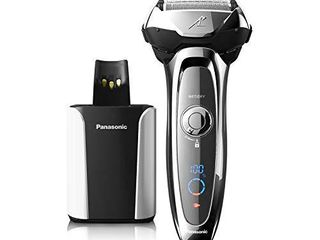 Panasonic Arc5 Electric Razor for Men  5 Blades Shaver and Trimmer  Shave Sensor Technology  Automatic Clean and Charge Station  Wet Dry  ES lV95 S