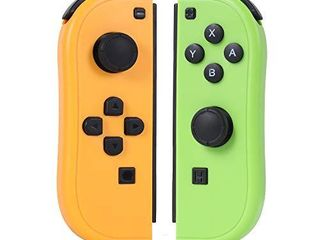 Joy Pad Controller Compatible with Switch Joycon Switch Gamepad with Dual Vibration Motor Gyroscope  with Strap and Support Wake up Function Yellow and Green