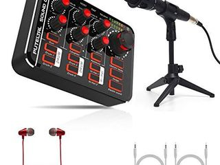 Compact live Sound Card with Microphone Set  PUTElTAl with Drums Karaoke  Voice Changer Effects for home party  Facebook  Youtube live Streaming PS4 XBOX Gaming