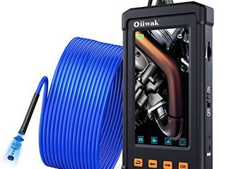 33FT Sewer Inspection Camera  Oiiwak Industrial Endoscope Borescope Camera 5 5mm 1080P for Pipe Drain Plumbing Snake Scope with 4 3 Inch IPS Screen IP67 Waterproof 6 lED lights 10M with Tool Box