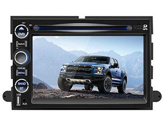 7 Inch Car Stereo Radio for Ford F150 Focus Expedition Escape with Bluetooth Double Din Multimedia Stereo Player with Navigation DVD Touch Screen Mirror link Steering Wheel Control FM Head Unit