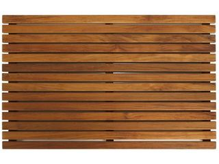 Bare Decor Zen large Oiled Teak Spa Shower Mat