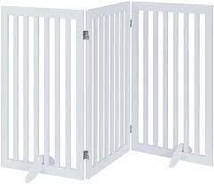 Universe Home Inc  3 Panel Pet Gate w  Support Feet