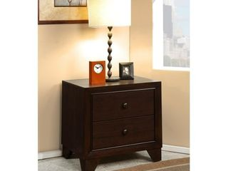Wooden 2 Drawer Night Stand