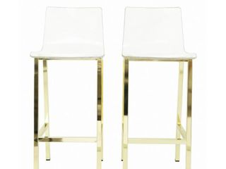 Acrylic Bar Stools SET OF 2