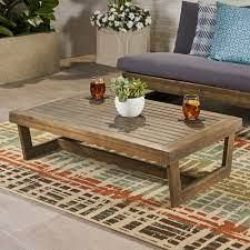Sherwood Outdoor Acacia Wood Coffee Table by CKH