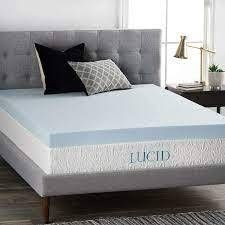 lucid Gel Memory Foam Mattress Topper Twin Full Size
